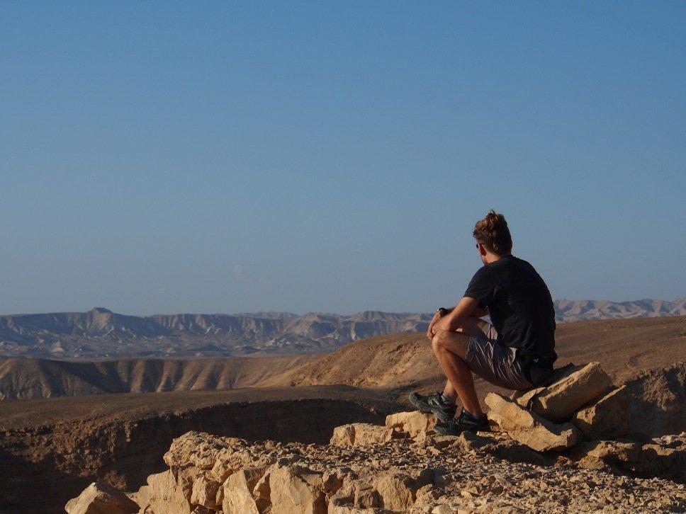 Widok na Pustynię Judzką z Masady