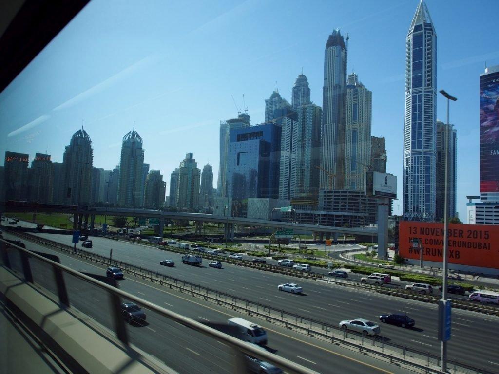 Dubaj i widok z metra | ZEA