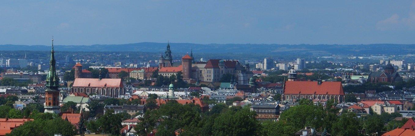 Kraków z Kopca Krakusa